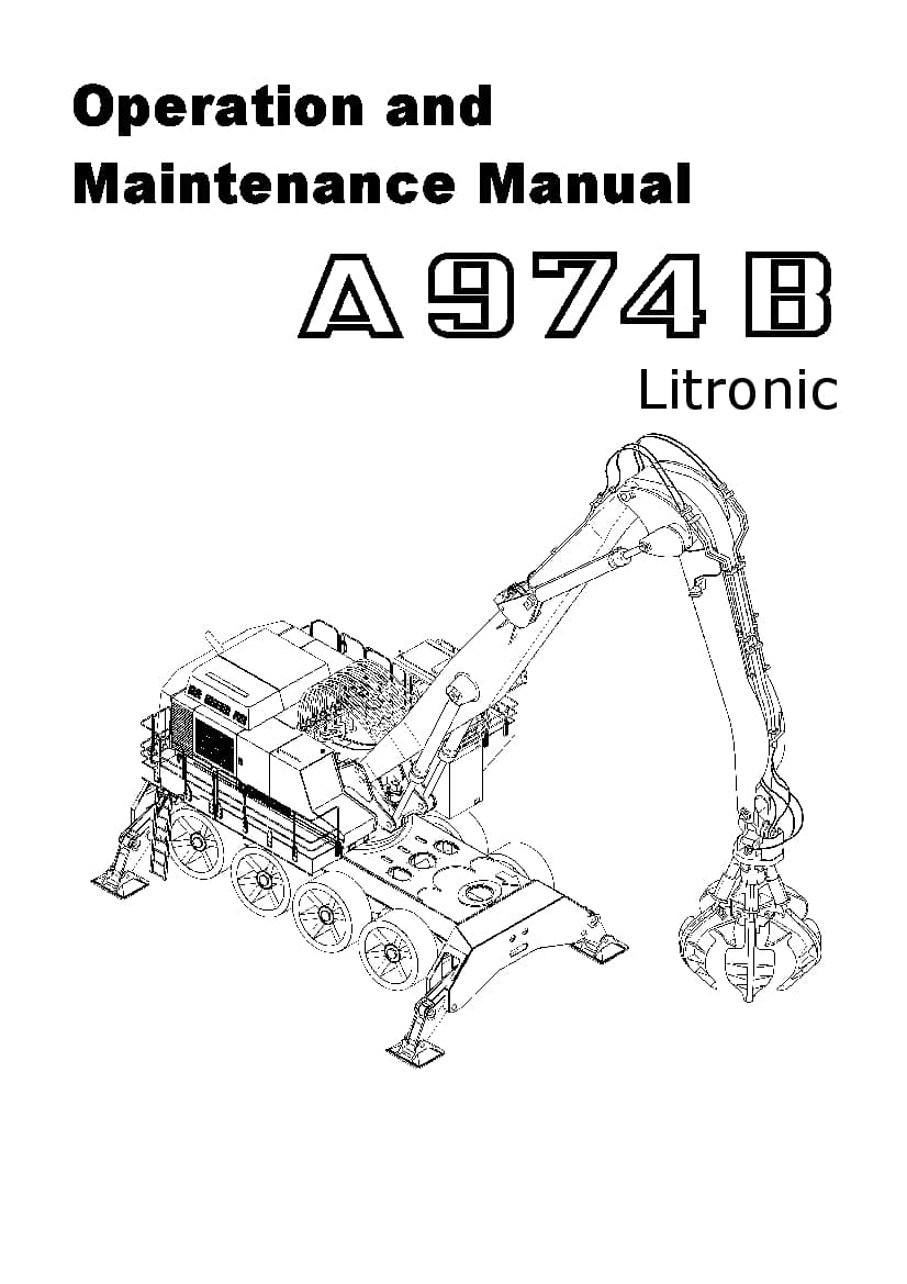 Liebherr A974B Operation and Maintenance Manual PDF