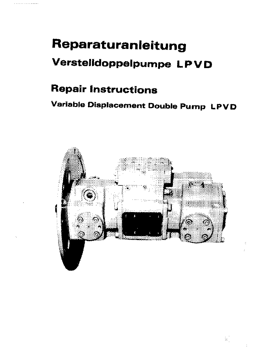 Liebherr LPVD hydraulic pump Workshop Repair Service