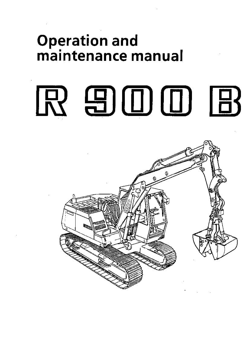 Liebherr R900B 310 311 2000 04 1991 en Operation and