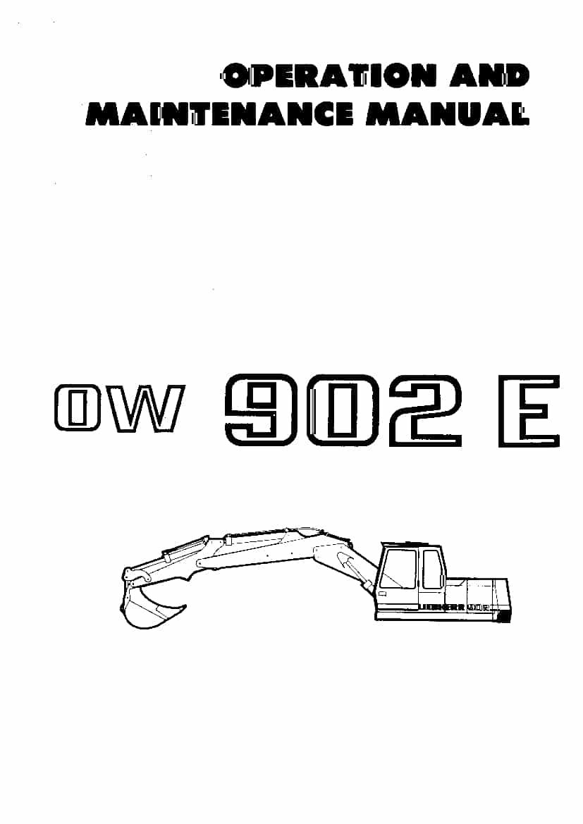 Liebherr R902 Operation and Maintenance Manual PDF
