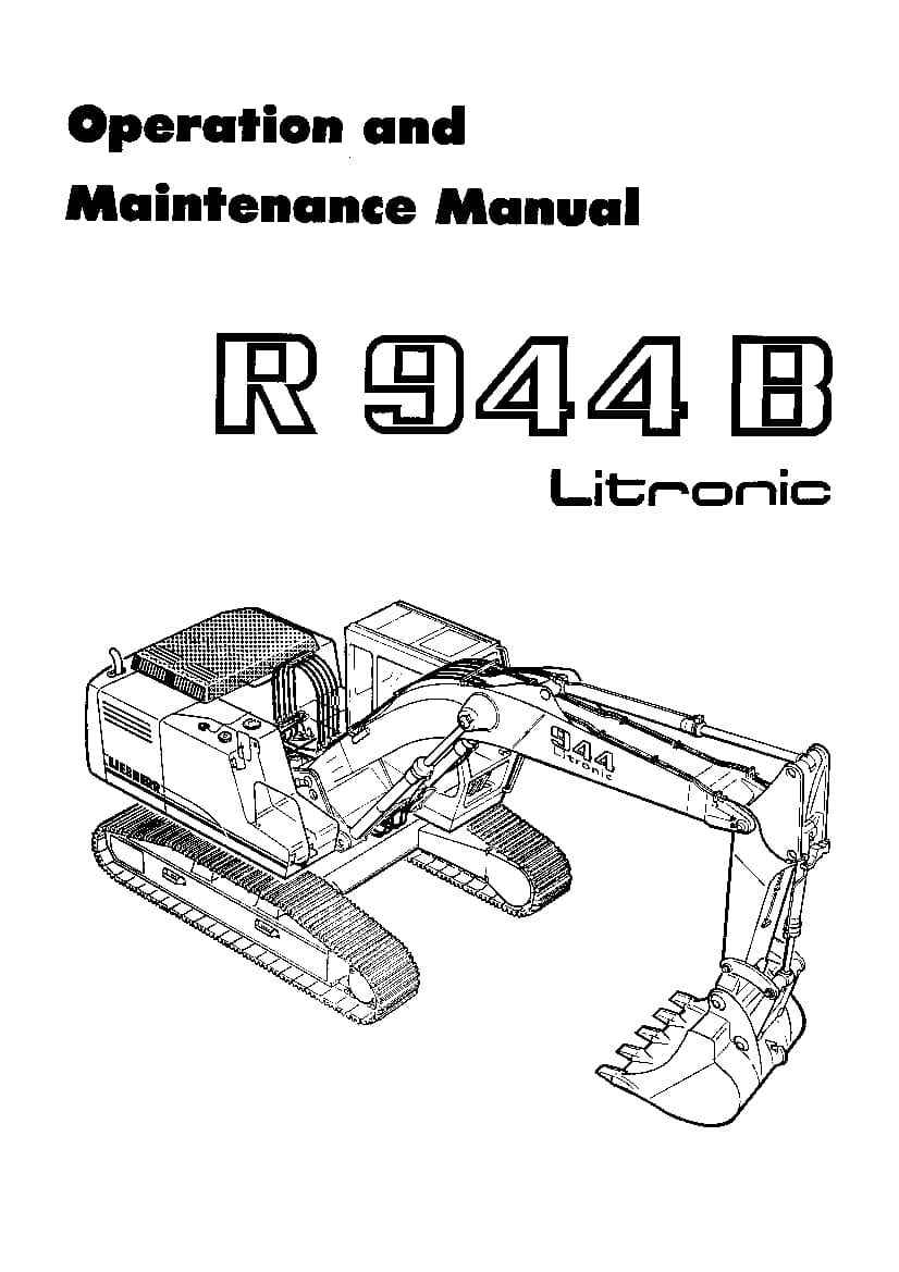Liebherr R944B Operation and Maintenance Manual PDF