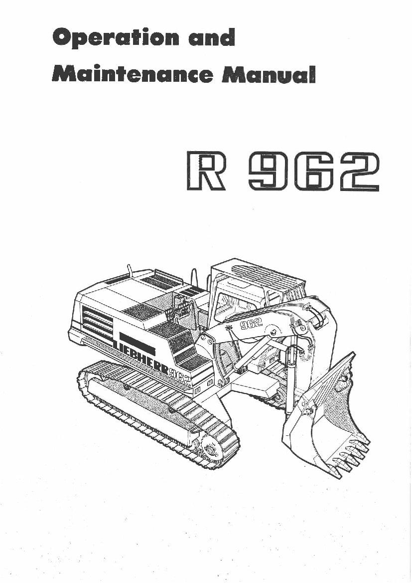 Liebherr R962 133 225 385 801 03 1990 en Operation and
