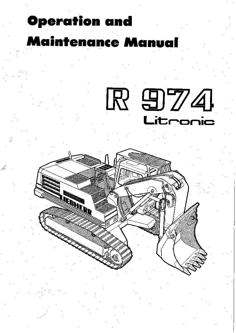 Liebherr R974 242 297 344 05 1991 en Operation and