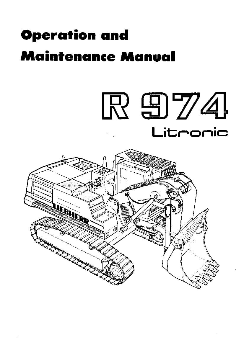Liebherr R974 486 601 10 1994 en Operation and Maintenance