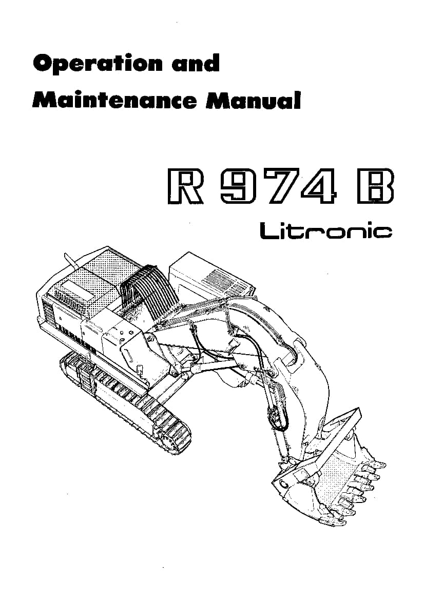 Liebherr R974 Operation and Maintenance Manual PDF