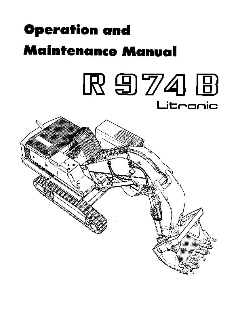 Liebherr R974B 10920 Operation and Maintenance Manual PDF
