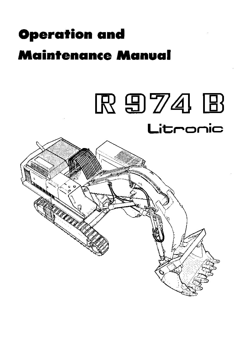 Liebherr R974B 1999 Operation and Maintenance Manual PDF