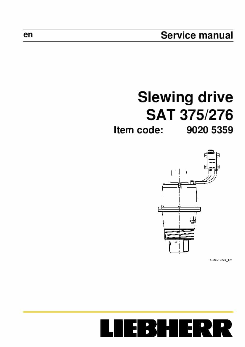 Liebherr SAT 375 276 90205359 Slewing drive Workshop
