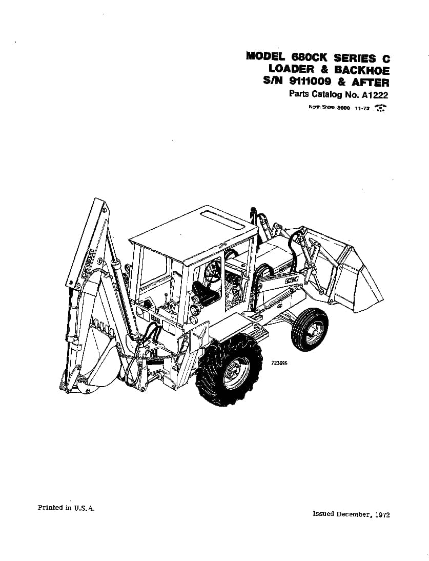 CASE 680CK SERIES C AFTER SN 9111009 Parts Manual PDF