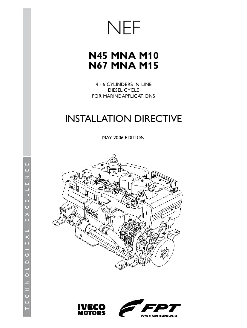 Iveco N45 MNA M10 PDF Installation Directive Manual