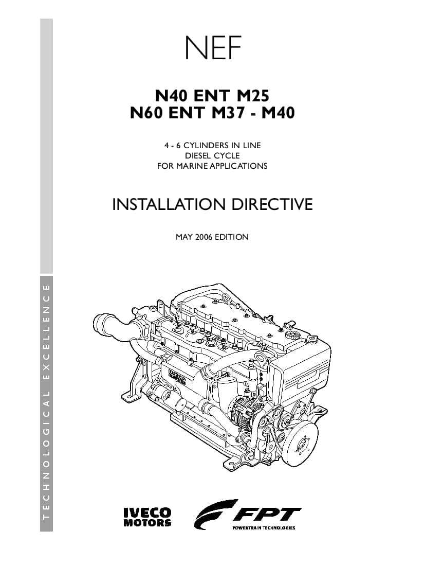 Iveco NEF N40-ENT-M25 PDF Installation Directive Manual