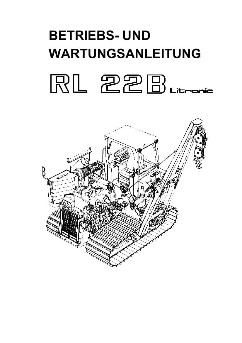 Liebherr RL22B 281 5551 Crawler dozer Operation and