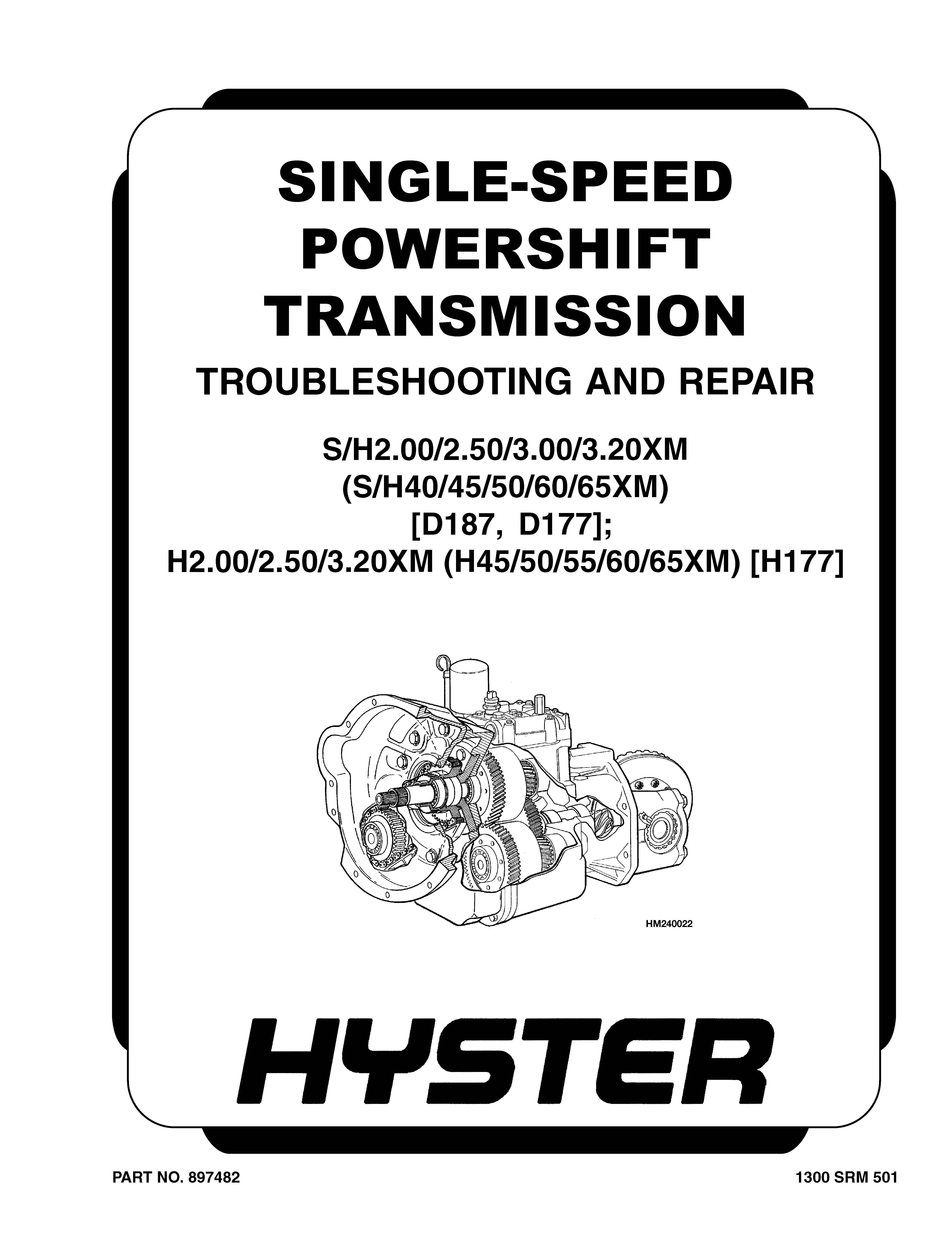 Hyster H2.00-3.20XM H177 Forklift Workshop Repair Service