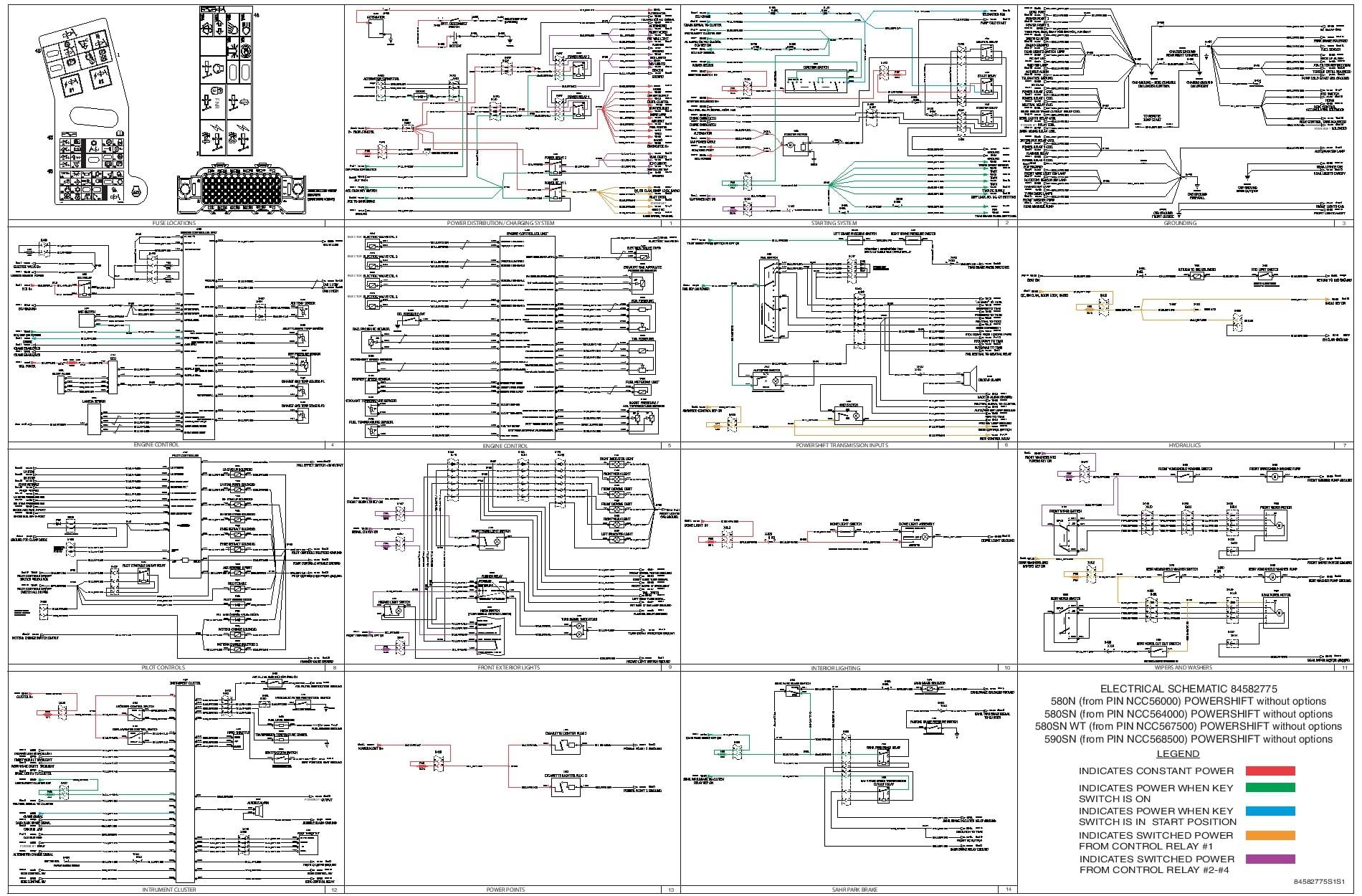 Case 580N 580SN 580SN WT 590SN POWERSHIFT without
