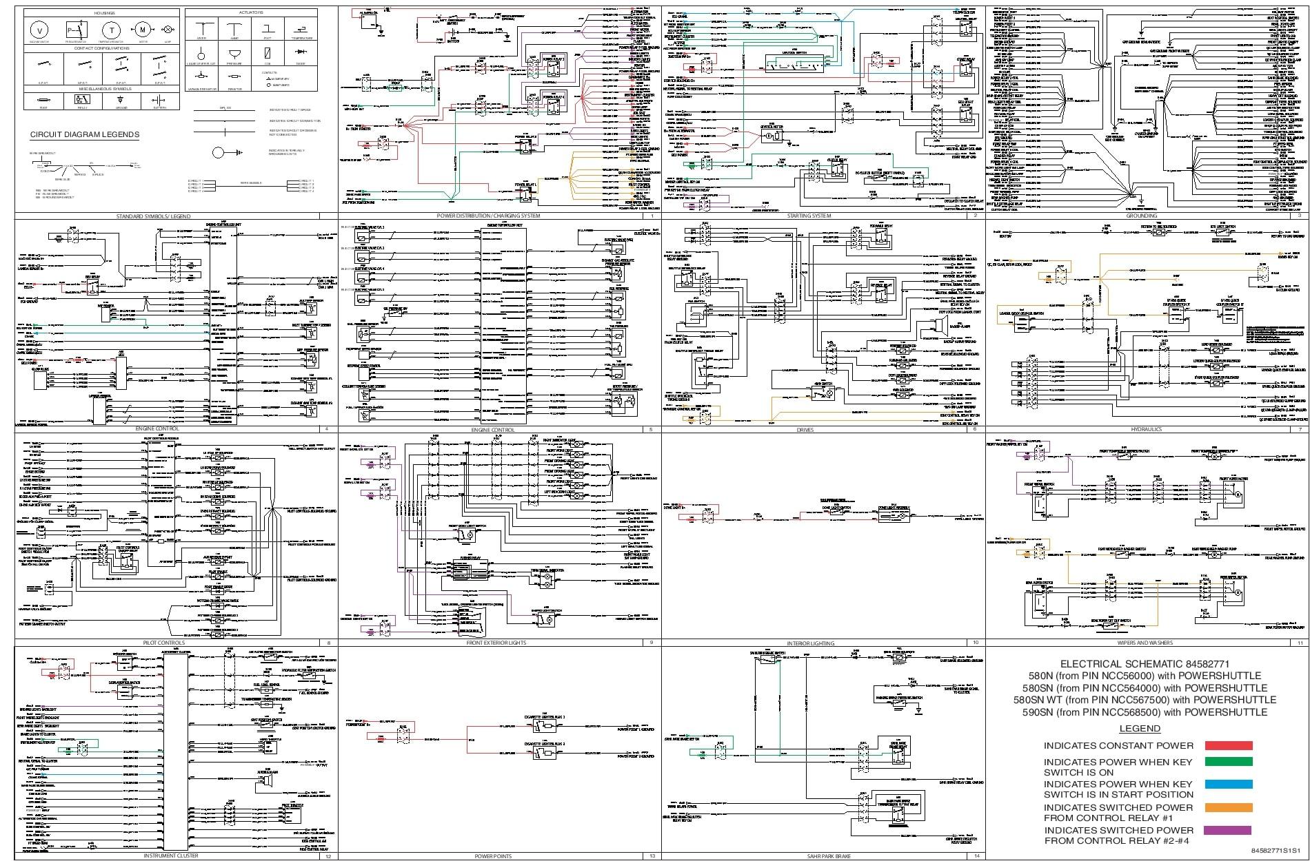 Case 580N 580SN 580SN WT 590SN POWERSHUTTLEELECTRICAL