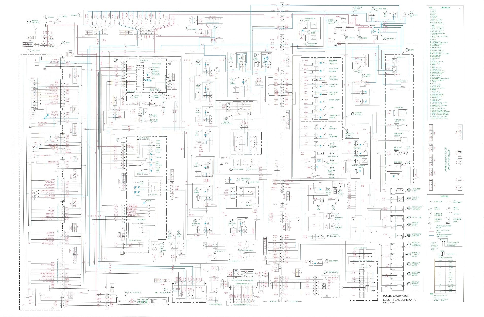 Case 9060B Excavator Hydraulic, Electrical Schematic PDF