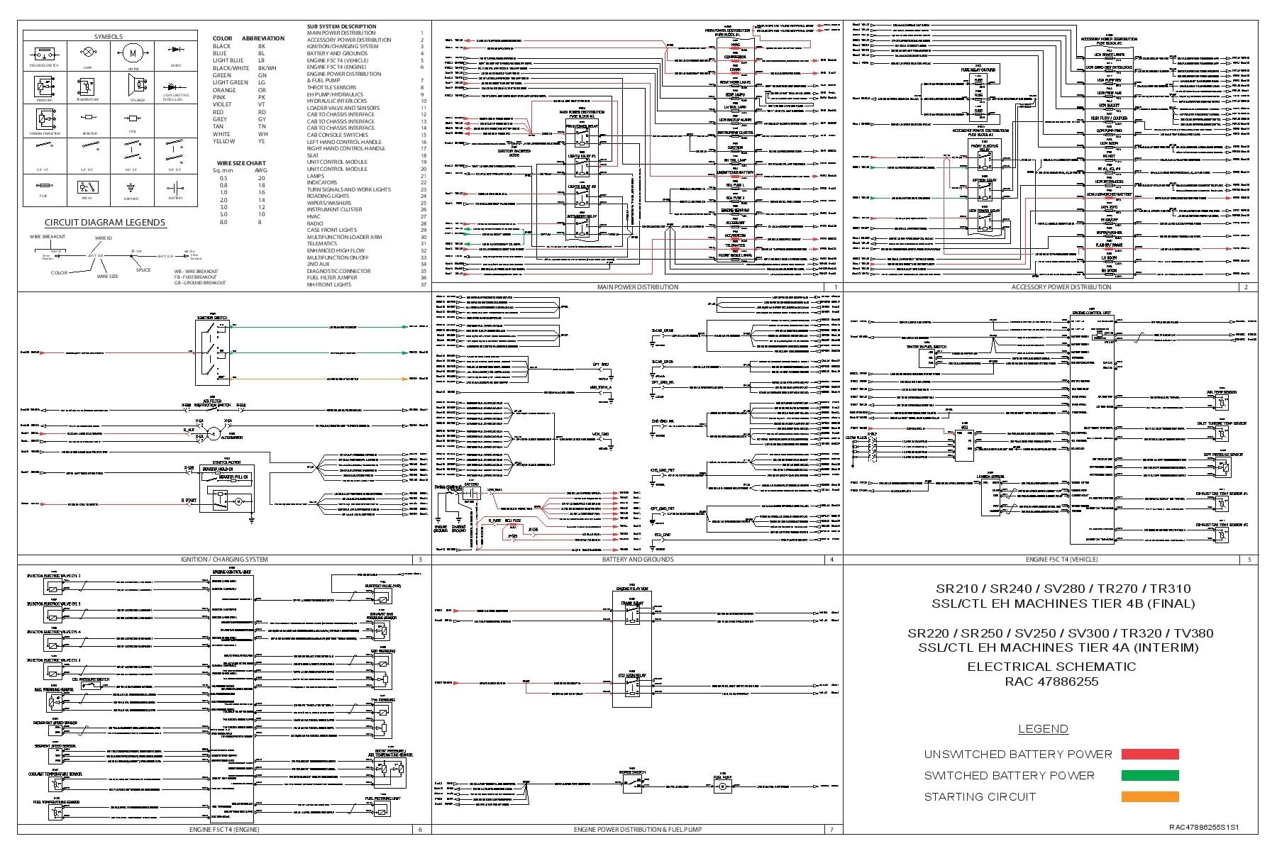 Case SR210 SR240 SV280 TR270 TR310 SR220 SR250 SV250 SV300