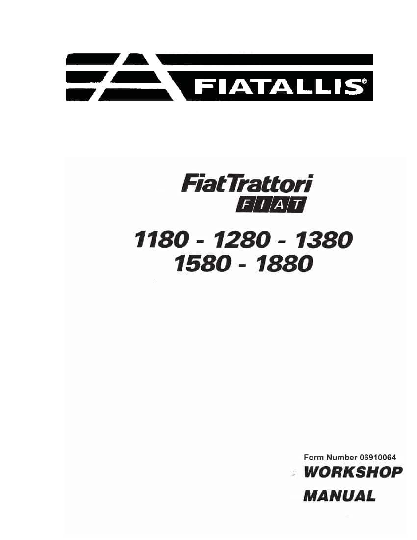 Fiat 1180 1280 1380 1580 1880 Tractor Workshop Repair