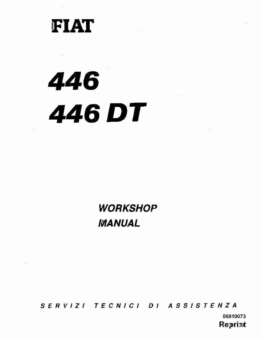 Fiat 446 55-46 65-46 60-46 70-46 DT Tractor Workshop