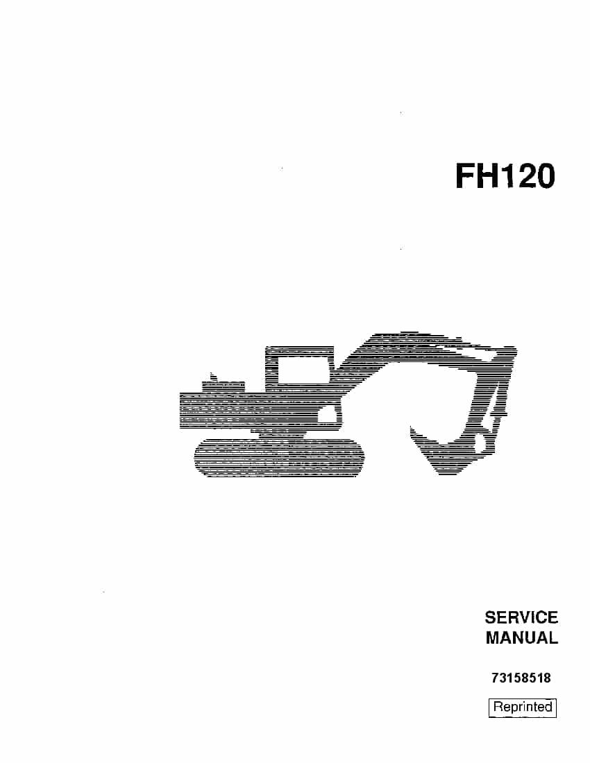 Fiat Allis FH120 Excavator Workshop Repair Service Manual