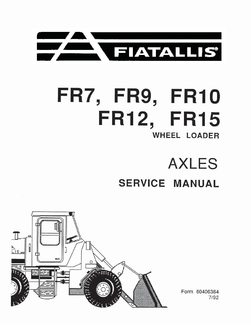 Fiat Allis FR7 FR 9 FR10 FR12 FR15 Axles Wheel Loader