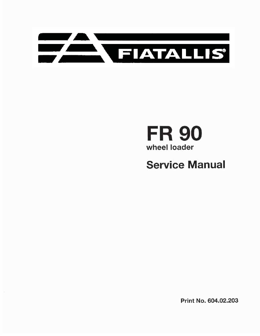 Fiat Allis FR90 Wheel Loader Workshop Repair Service