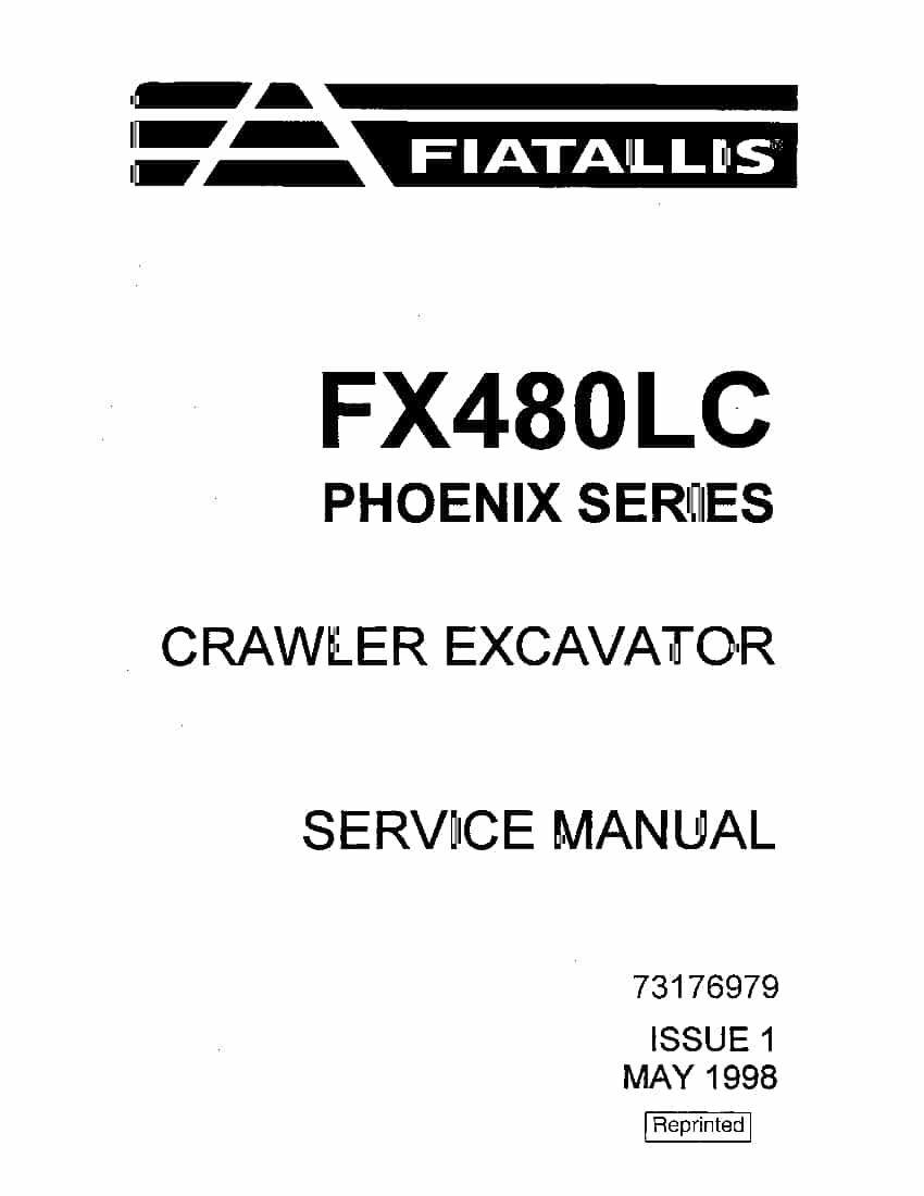 Fiat Allis FX480LC Phoenix series Crawler Excavator