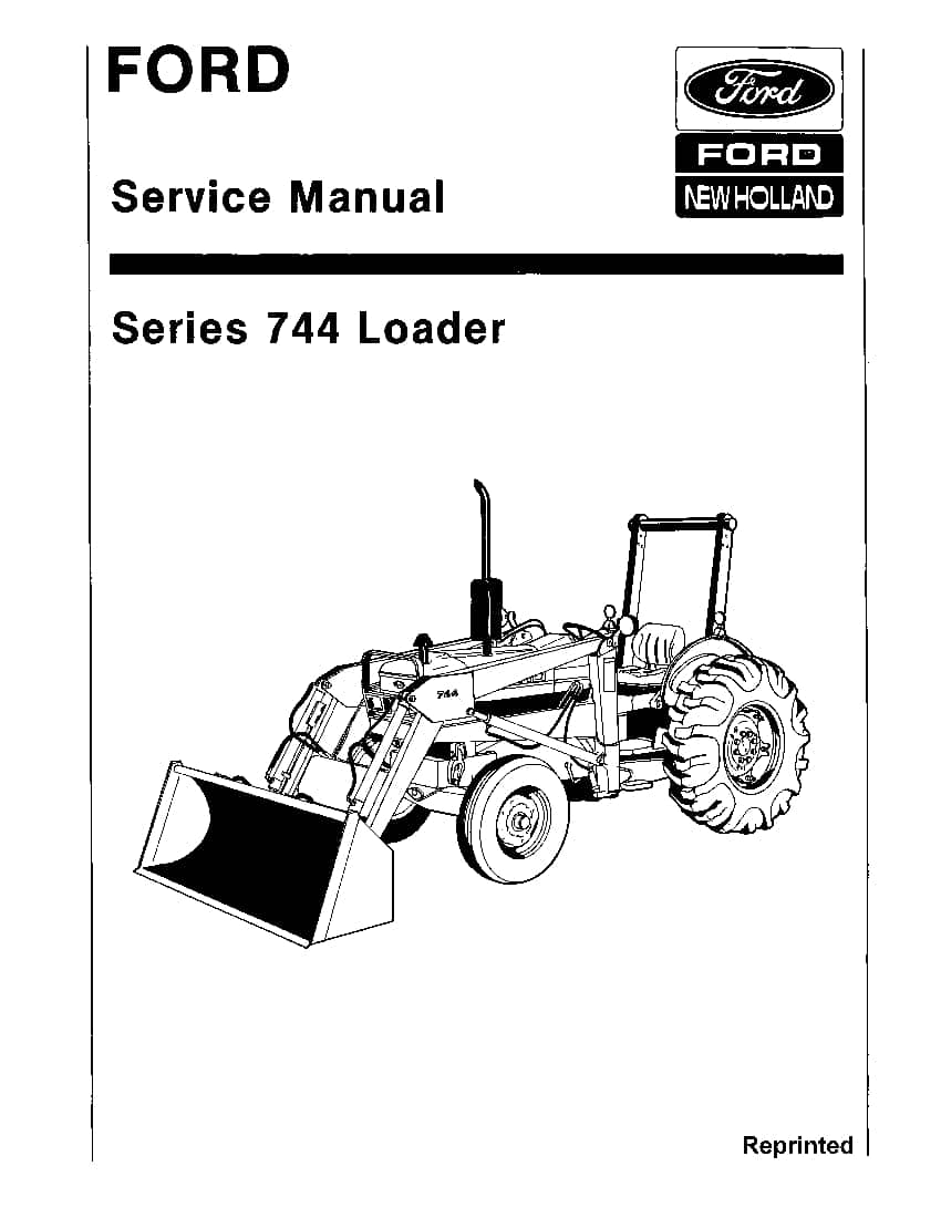 Ford 744 Loader Workshop Repair Service Manual PDF