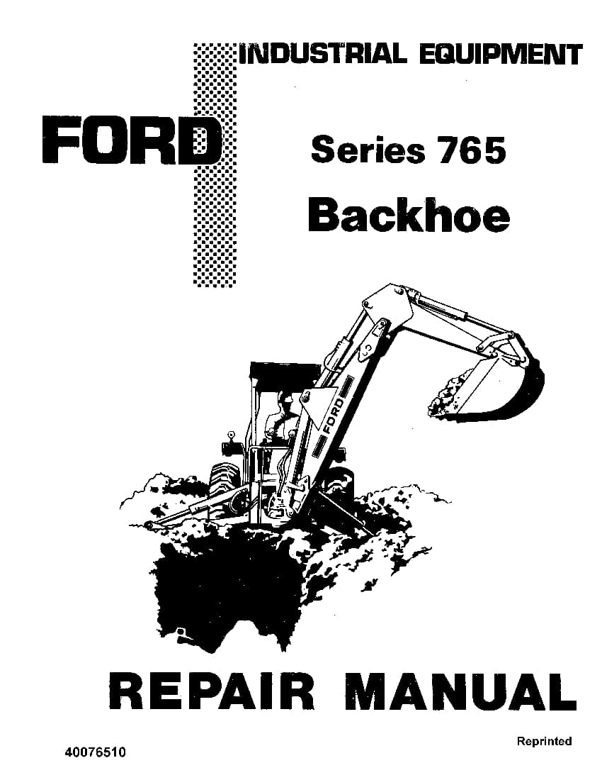 Ford 765 Series Backhoe Workshop Repair Service Manual PDF