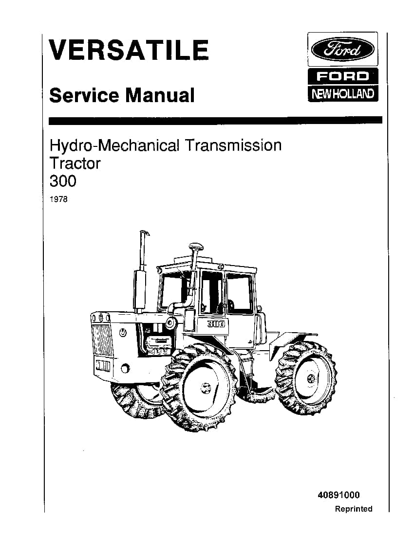 Ford Hydro mechanical Transmission 300 Tractor Workshop