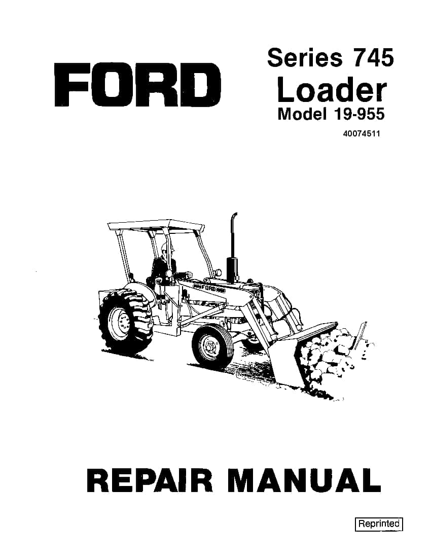 Ford Series 745 Loader Workshop Repair Service Manual PDF