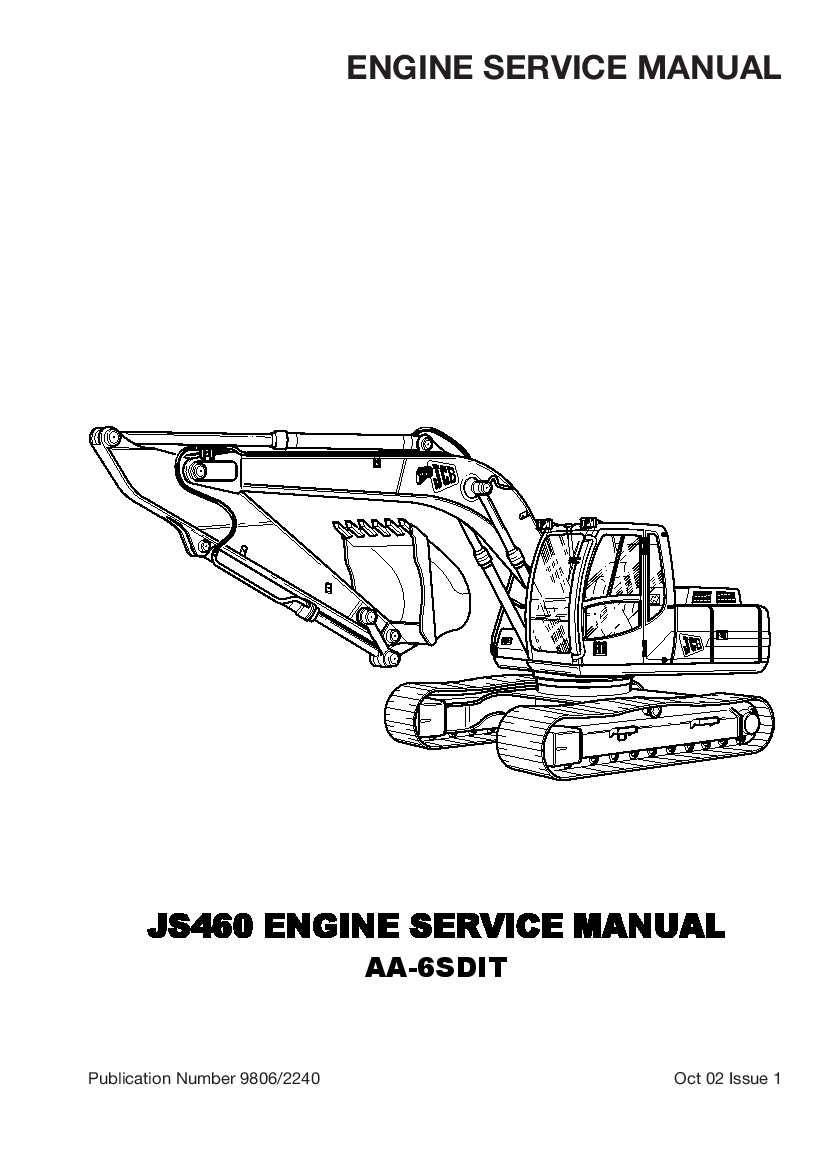 Isuzu AA-6SDIT engine JS460 Workshop Repair Service Manual