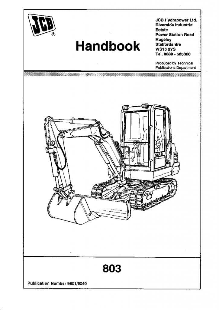 JCB 803 Loader Operation and Maintenance Manual PDF
