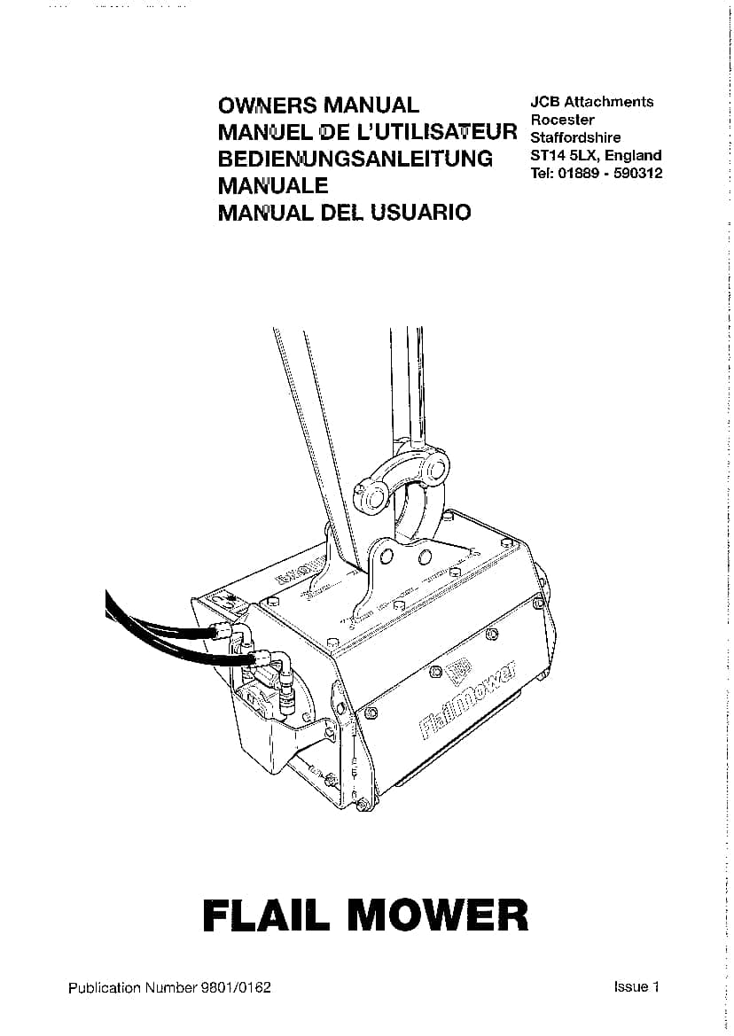 JCB Flail Mower Operation and Maintenance Manual PDF