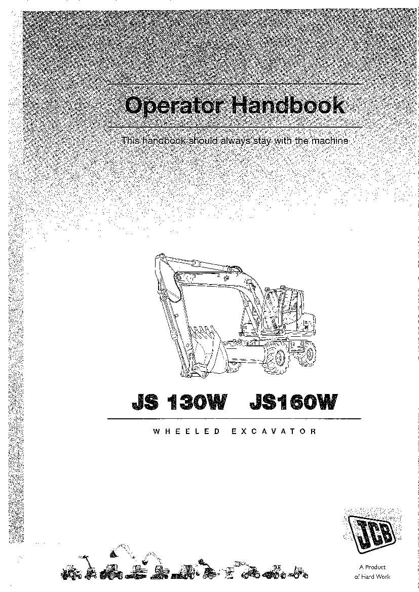 JCB JS130E 16W XO Auto Excavator Operation and Maintenance