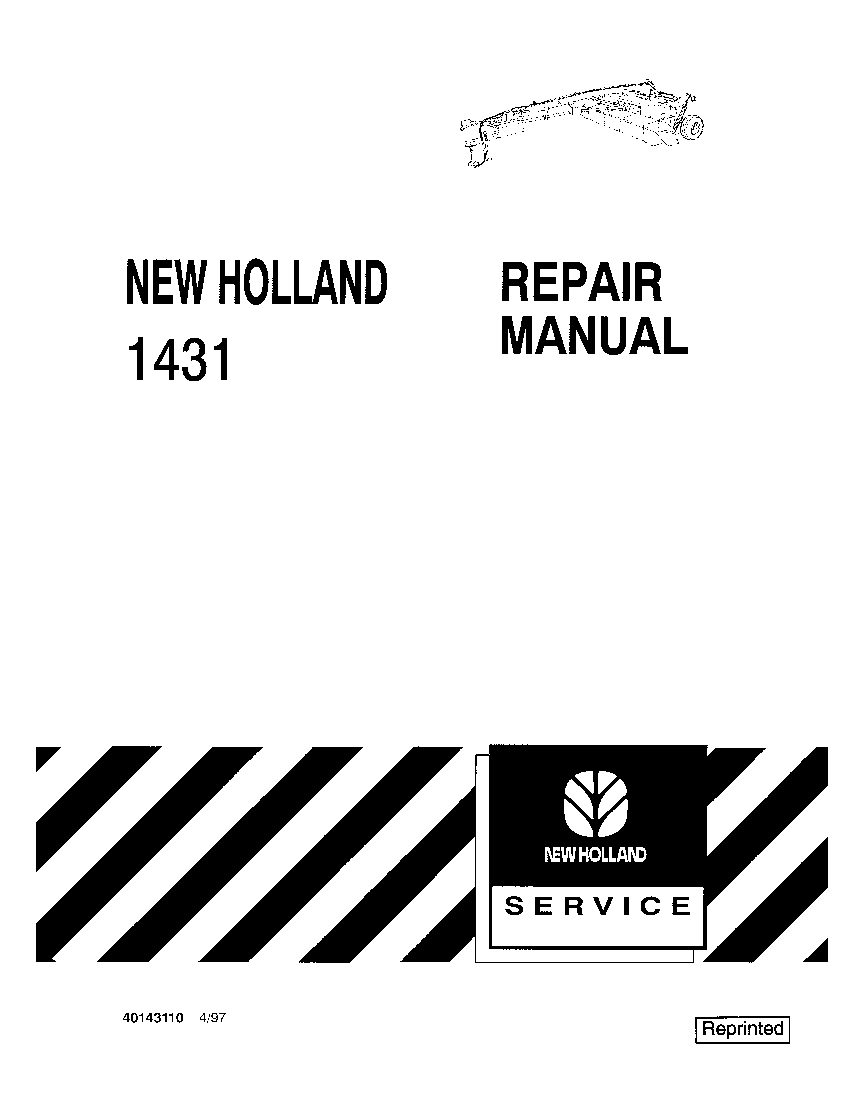 New Holland 1431 Mower Conditioner Workshop Repair Service