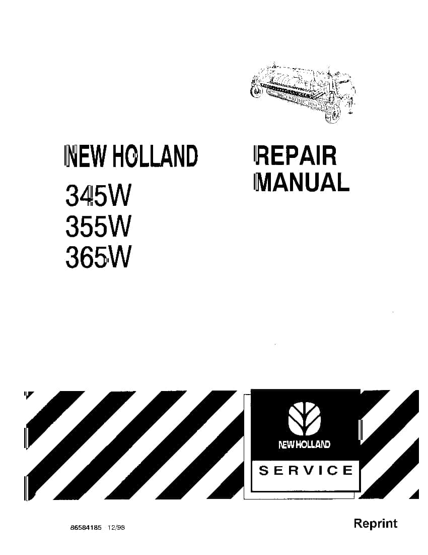 New Holland 345W 355W 365W Header Workshop Repair Service