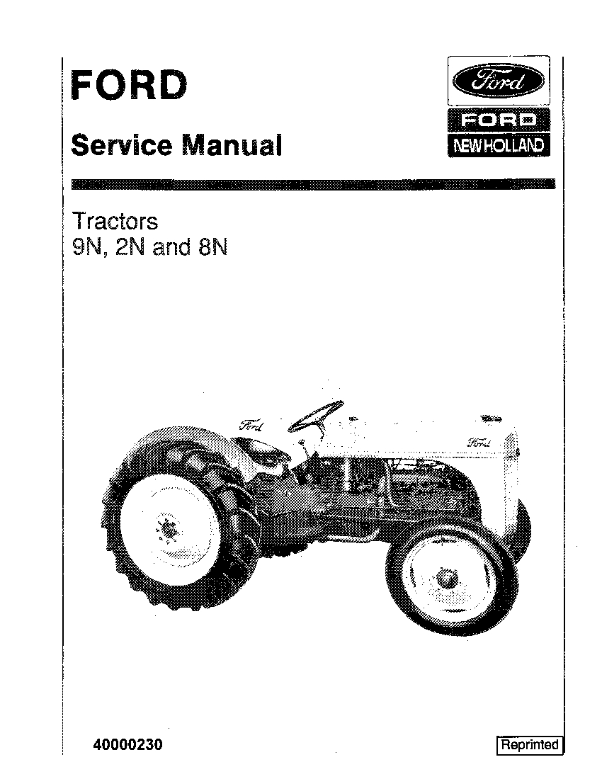 New Holland 9N 2N 8N Tractors Workshop Repair Service