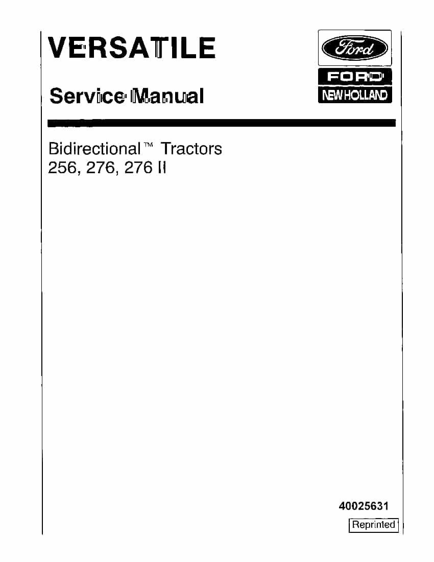New Holland Ford 256,276,276 II Bi-directional Versatile