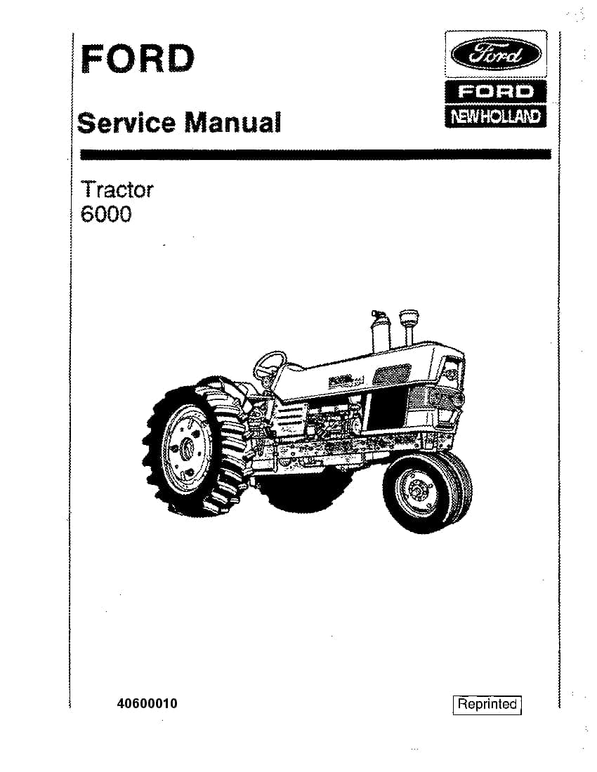 New Holland Ford 6000 Tractor Workshop Repair Service