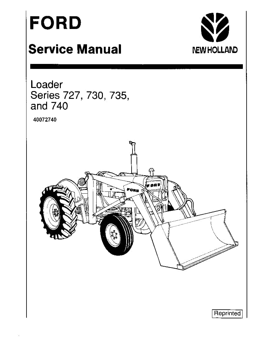 New Holland Ford Series 727 730 735 740 Tractors Workshop