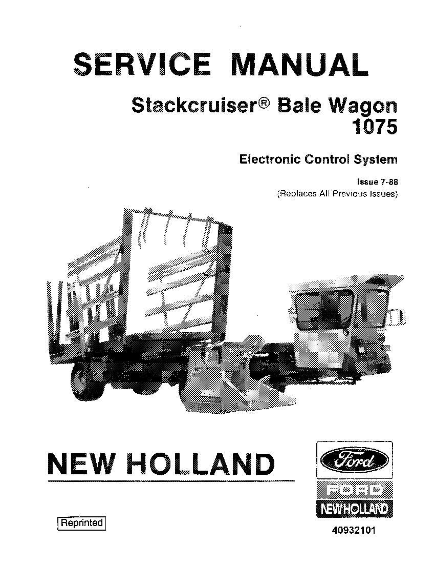 New Holland Stackcruiser Bale Wagon 1075 Electronic