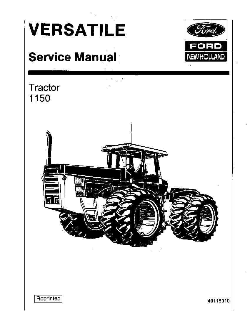 New Holland Versatile 1150 Tractor Workshop Repair Service
