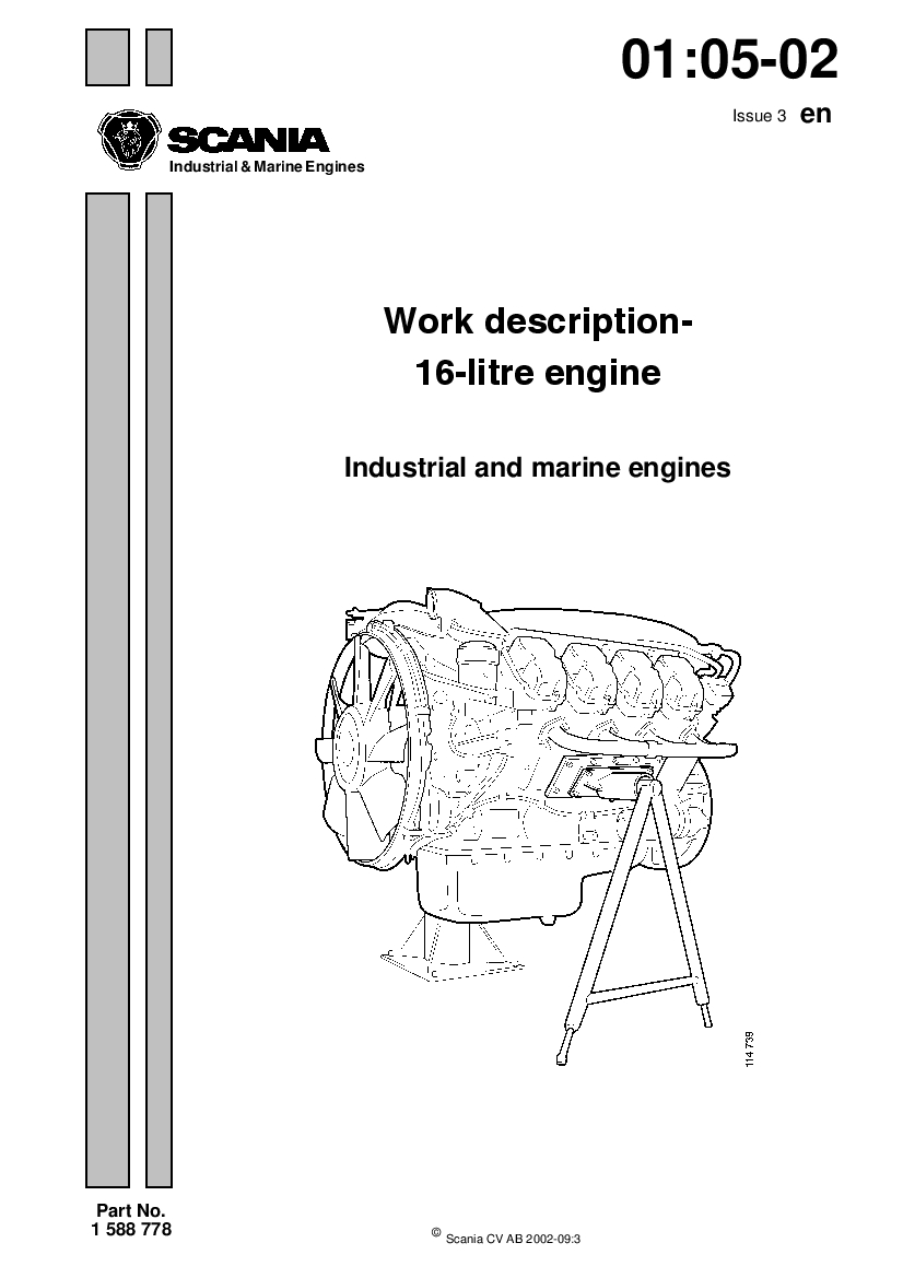 Scania 16 Engine Workshop Repair Service Manual PDF