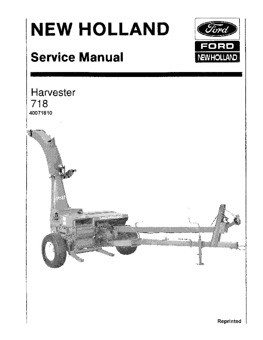 New Holland 718 Harvester Repair Service Manual PDF
