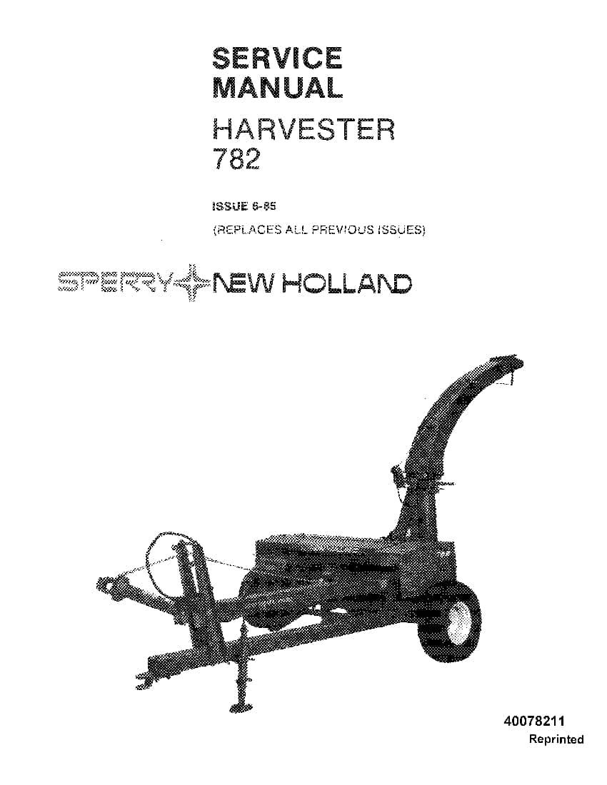 New Holland 782 Harvester Repair Service Manual PDF