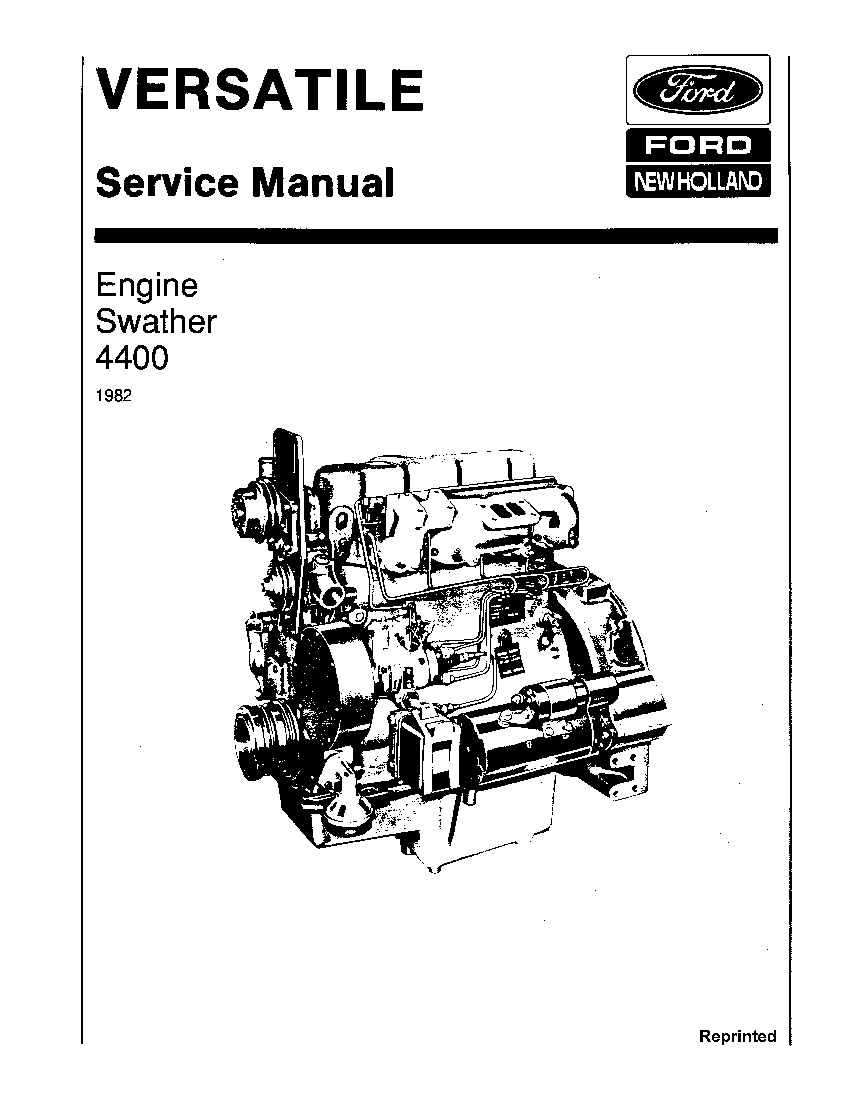 New Holland Ford V74703 4400 Diesel Engine on Self-prop