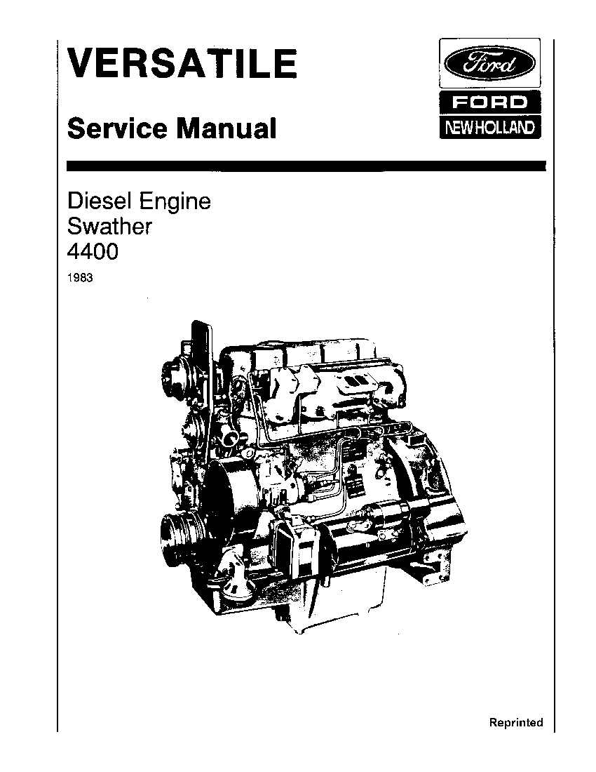 New Holland Ford V74760 4400 Diesel Engine on Self-prop