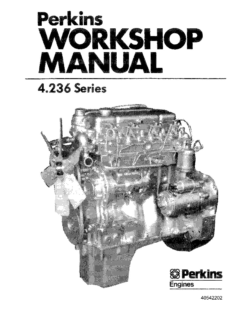 New Holland Perkins Eng Diesel 4.236 Repair Service Manual
