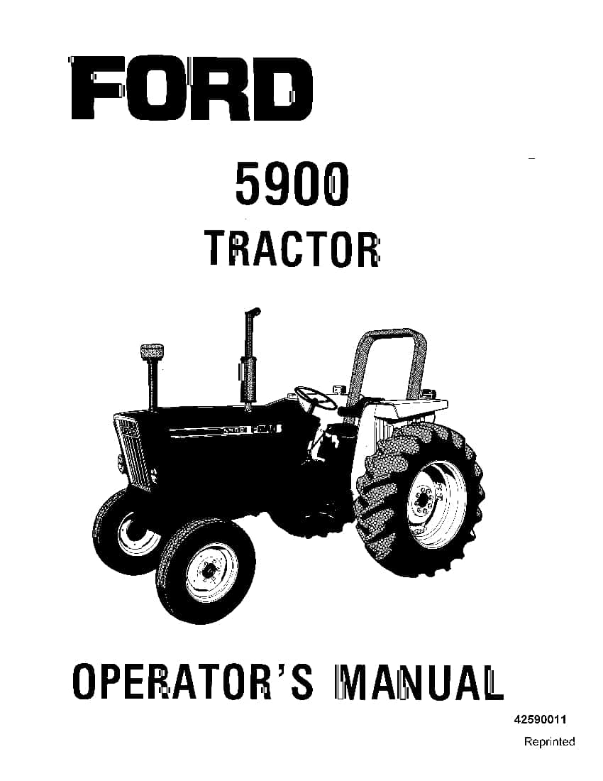 New holland 5900 Tractor operator manuals PDF Download